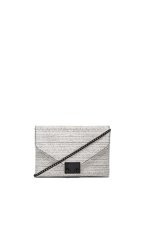 Loeffler Randall Junior Lock Clutch in White & Black