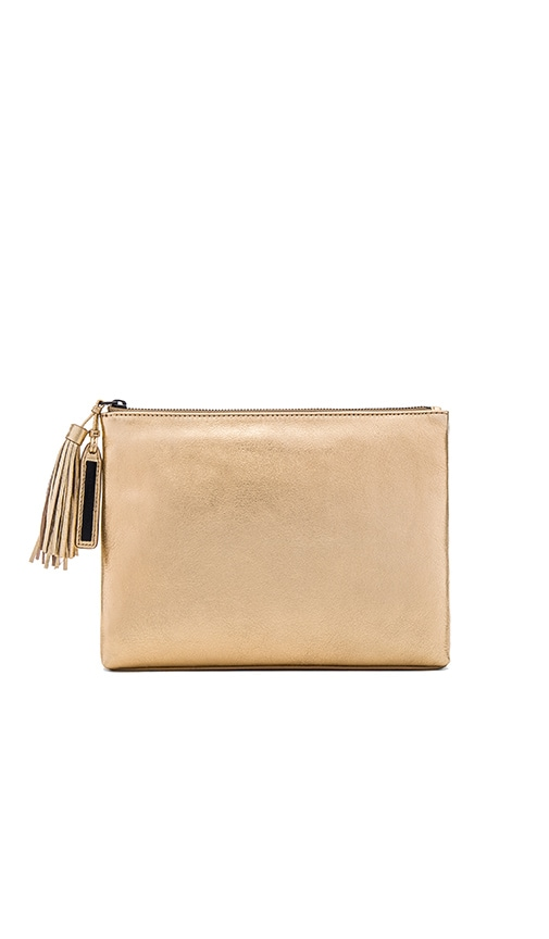 Loeffler Randall Tassel Clutch in Gold