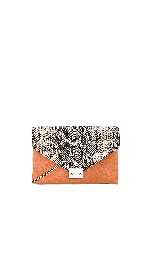 Loeffler Randall Lock Clutch in Tan