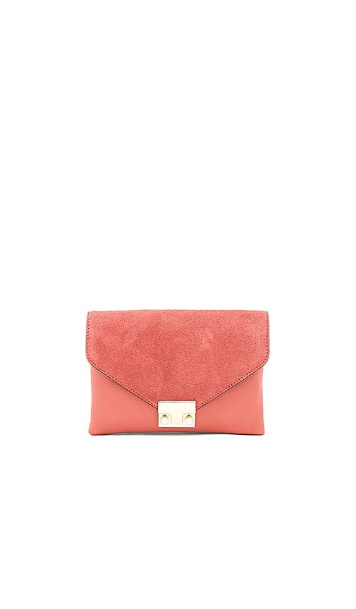 Loeffler Randall Jr Lock Clutch in Rose