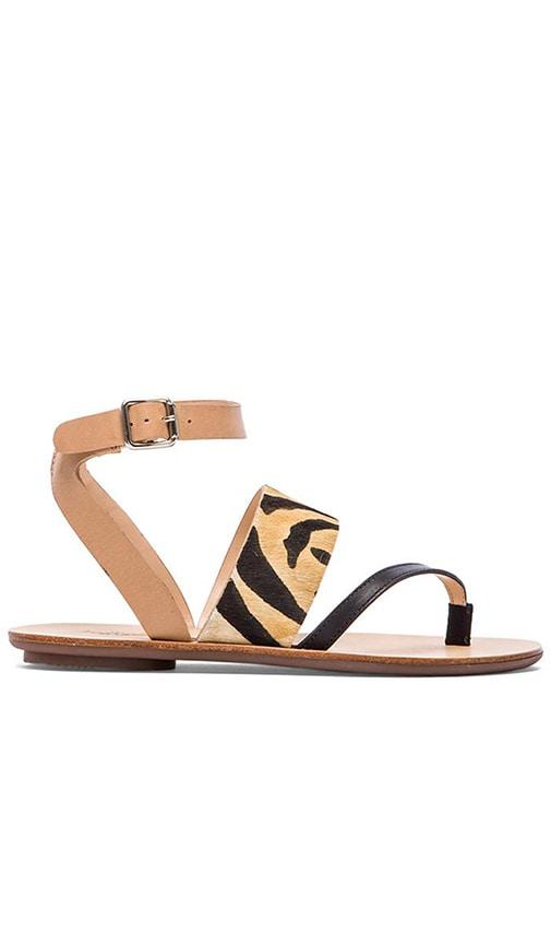 Sunny Sandal with Calf Fur