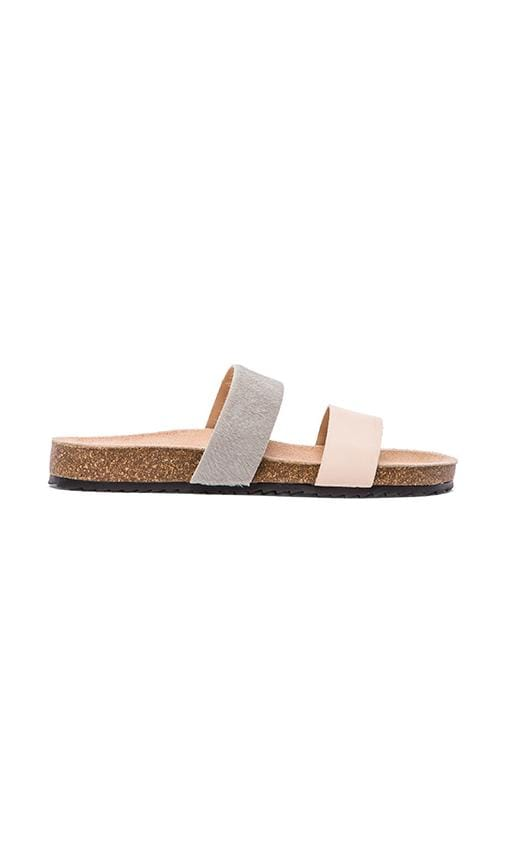 Paz Sandal with Calf Fur