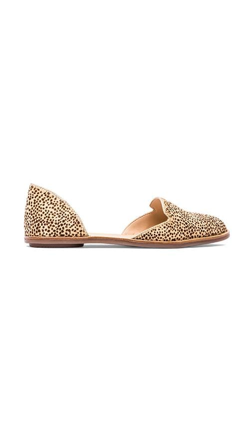 Prue Flat with Calf Fur