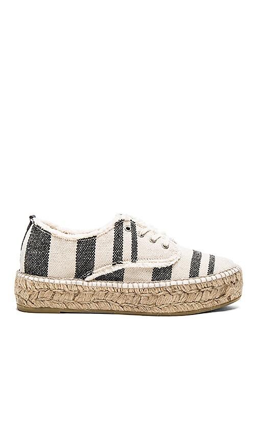Loeffler Randall Espadrille Sneaker in Black & Natural