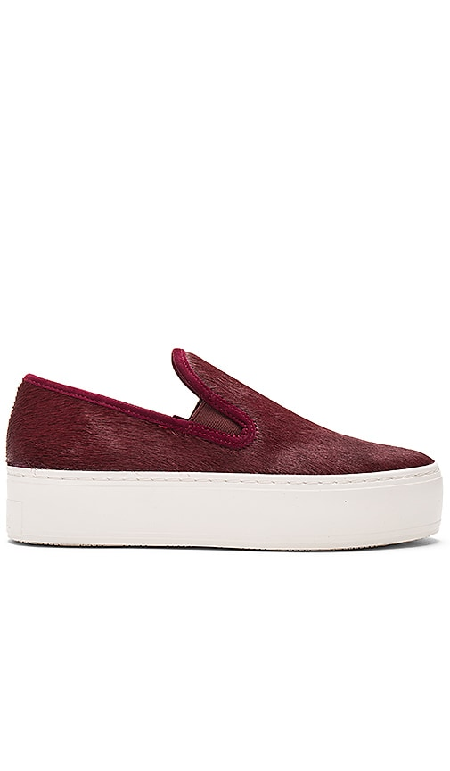 Loeffler Randall Kane Calf Hair Sneaker in Burgundy