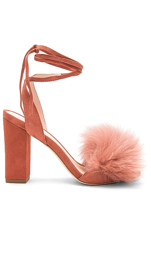 Loeffler Randall Nicolette Fox Fur Heel in Rose