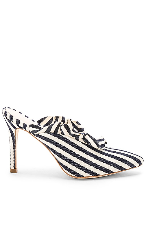 Loeffler Randall Langley Stripe Heel in Navy