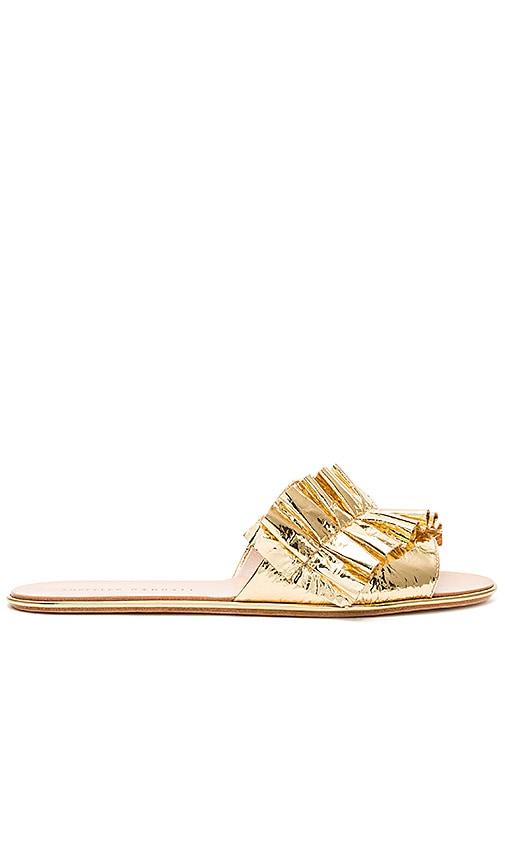 Loeffler Randall Rey Sandal in Metallic Gold