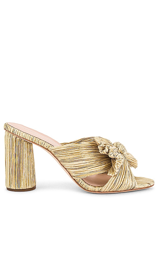 Penny High Heel Pleated Knot Slide by Loeffler Randall