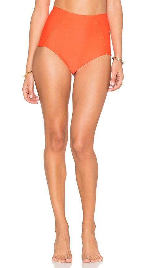 lolli swim See You Highwaist Basic Bottom in Orange