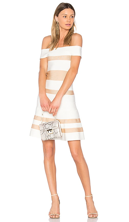 LOLITTA Clara Fit and Flare Dress in White