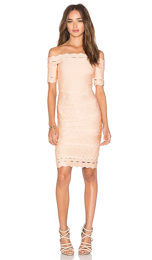 Bandage Off Shoulder Mini Dress