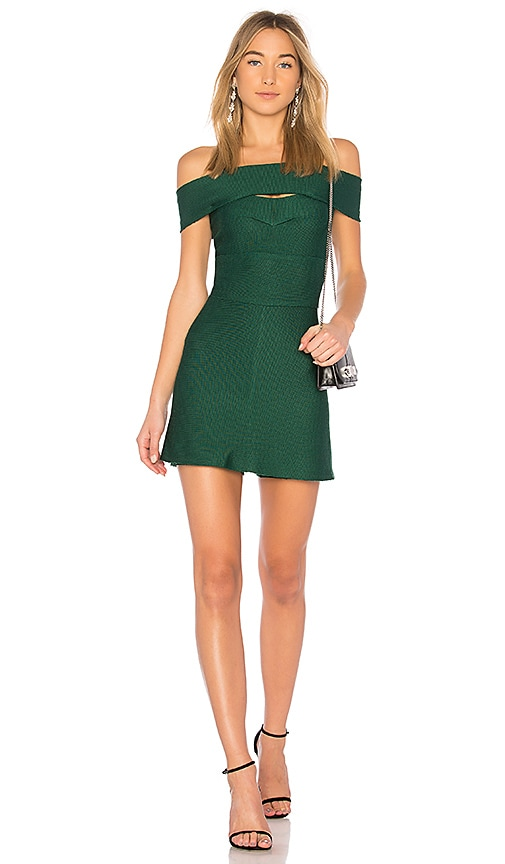 LOLITTA Anya Off the Shoulder Dress in Green