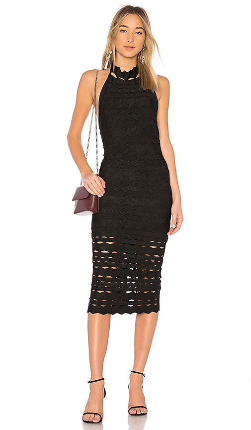LOLITTA Irina Halter Dress in Black
