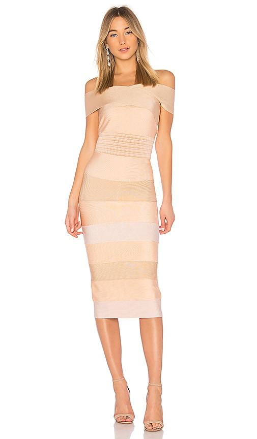 LOLITTA Feliccia Bodycon Dress in Cream