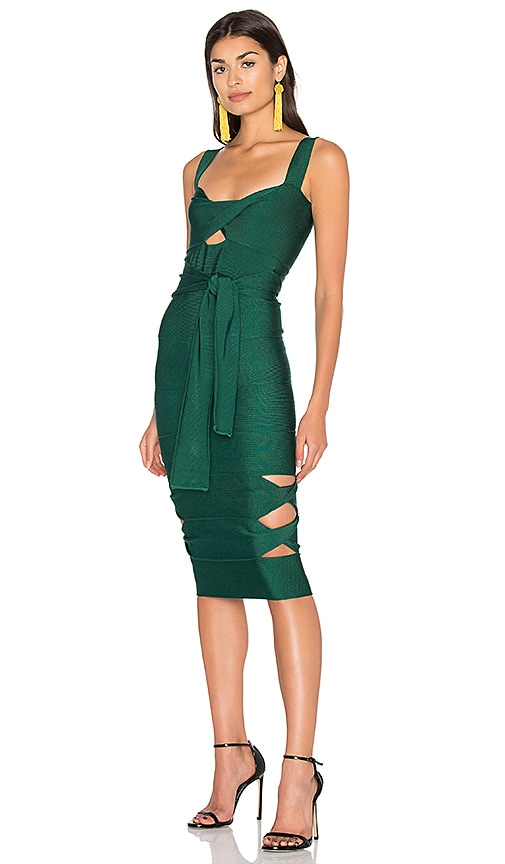 LOLITTA Sophia Cut Out Midi Dress in Green