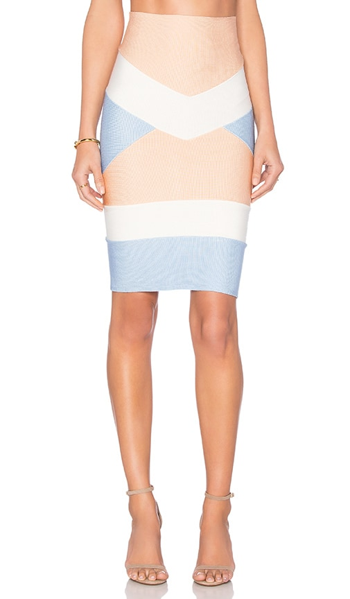 Bandage Tri Color Mini Skirt