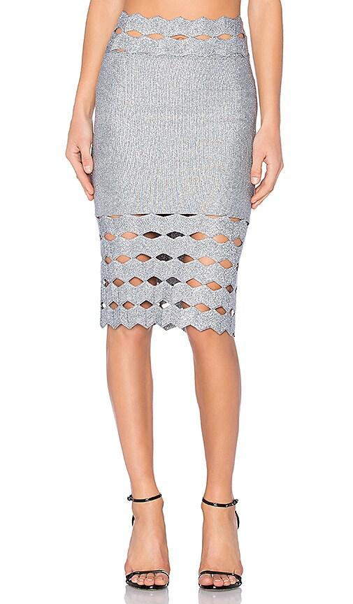 LOLITTA Helena Skirt in Metallic Silver