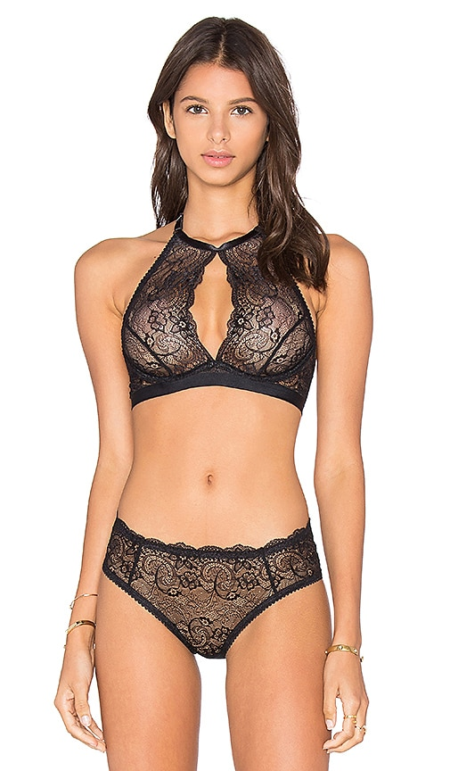 Lonely Nora Halter Underwire Bra in Black