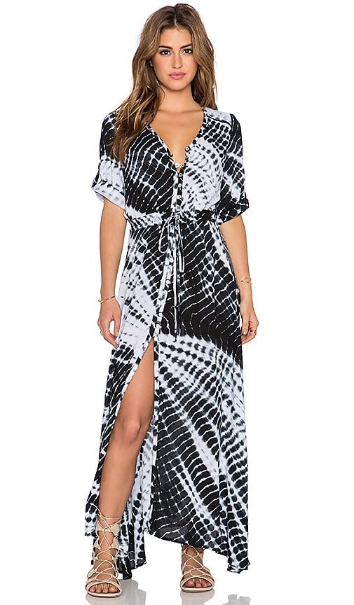 Le Salty Label Amaifi Maxi Dress In Black Tie Dye Revolve