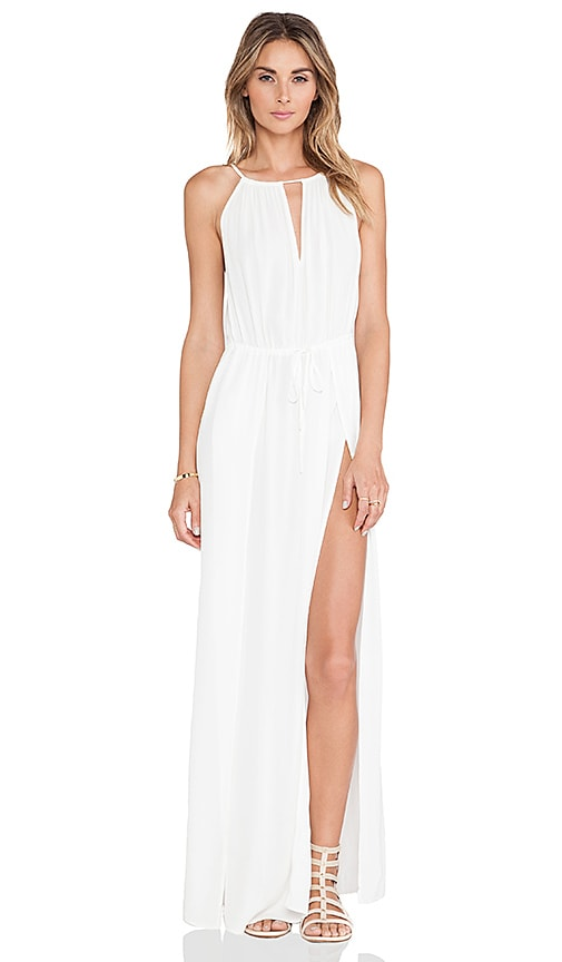Le Salty Label Bombora Split Maxi Dress in White