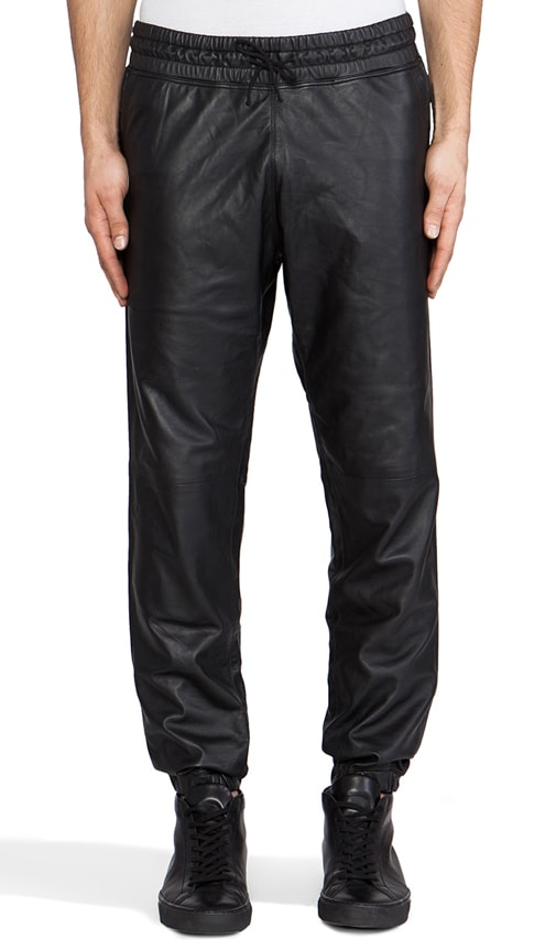 Leather Sweatpant