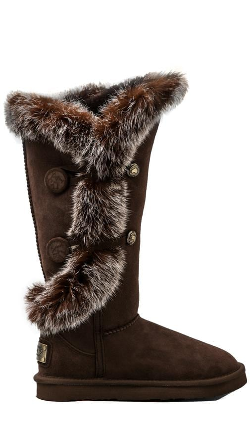 Nordic Angel X-Tall Boot with Rabbit Fur Trim