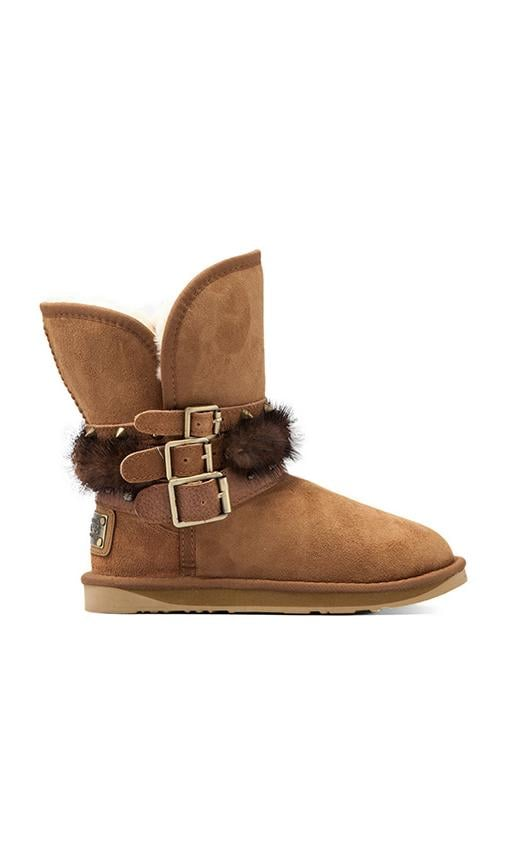Hatchet Short Boot with Mink Fur