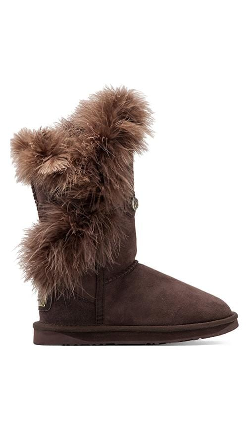 Nordic Feather Short Boot with Sheep Shearling