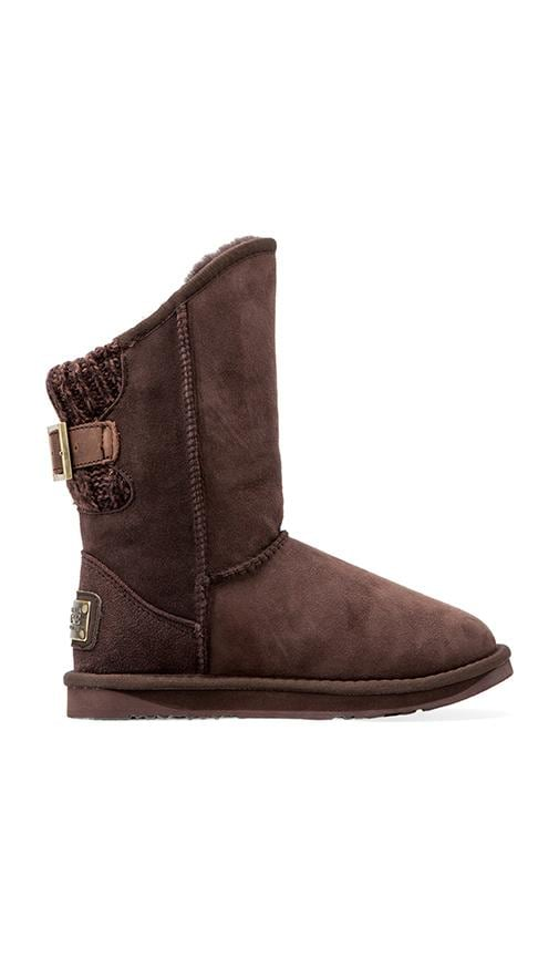 Spartan Knit Short Boot with Sheep Shearling