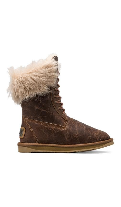 Montana Boot with Raccoon Fur Trim