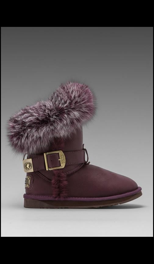 Tsar Short Boot with Raccoon Fur Trim