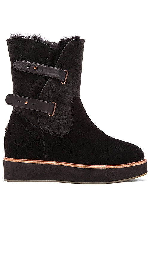 Australia Luxe Collective Bushmill Boot with Sheep Shearling in Black Suede