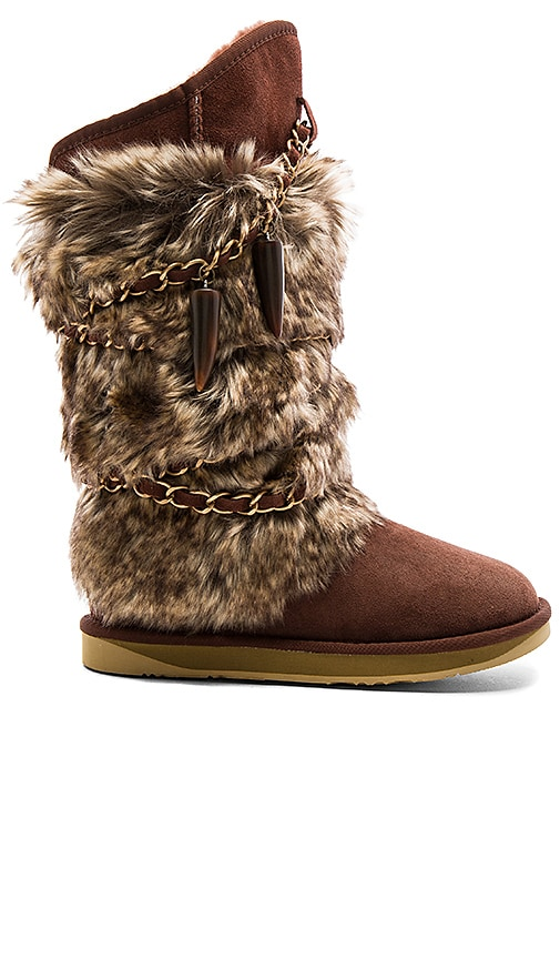 Australia Luxe Collective Atilla Boot with Faux Fur in Brown
