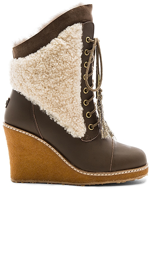 Australia Luxe Collective Meditere Sheep Shearling Boot in Brown