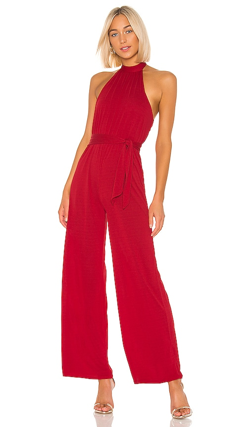 Don't Be Shy Jumpsuit In Red by Lovers + Friends