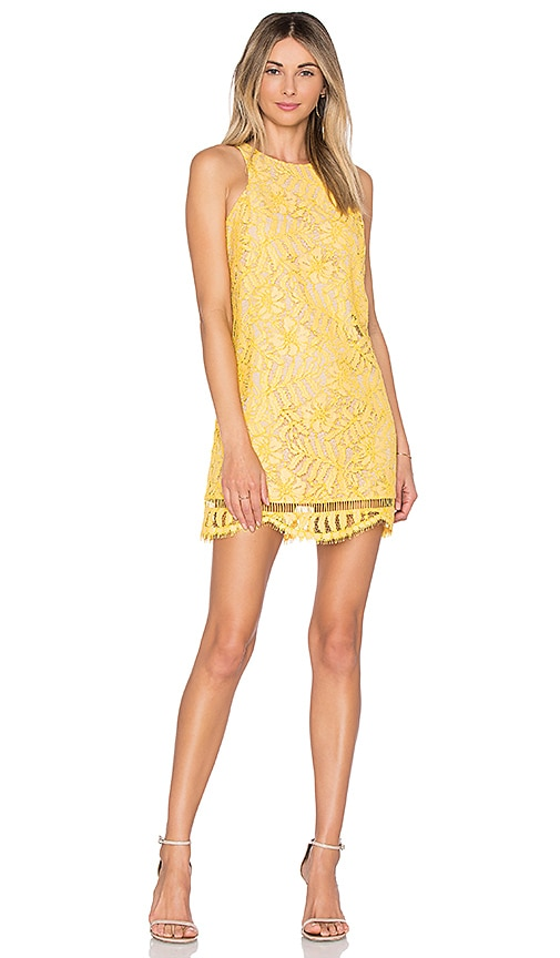 Lovers + Friends Caspian Shift Dress in Yellow