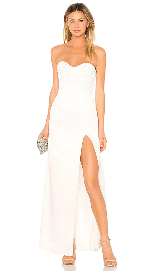 Lovers + Friends Jamie Gown in White