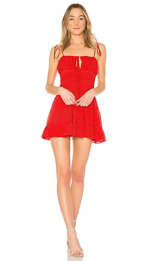 Lovers + Friends Garner Dress in Red