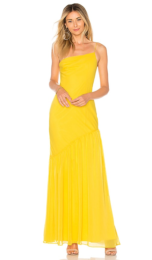 Lovers + Friends Dawson Gown in Yellow