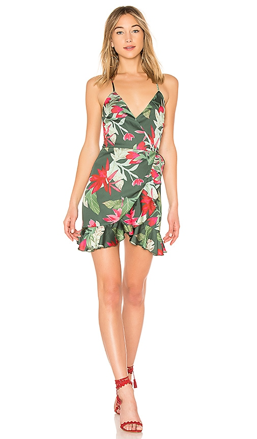 Lovers + Friends Gigi Wrap Dress in Green