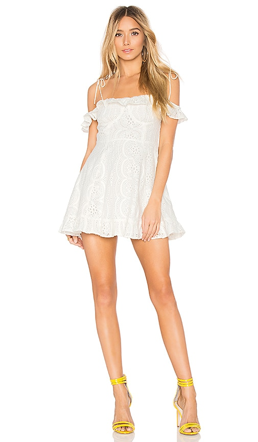 Lovers + Friends Kate Dress in White