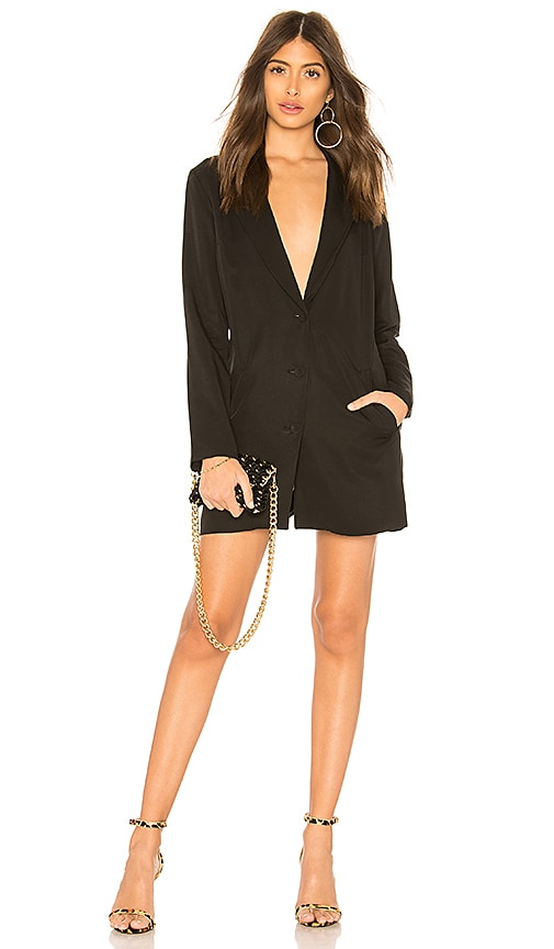 Vanessa Blazer Dress In Black. Vanessa Robe Blazer Noir. - Size M (also In S,xs) By The Way. - Taille M (également En S, Xs) De La Voie.