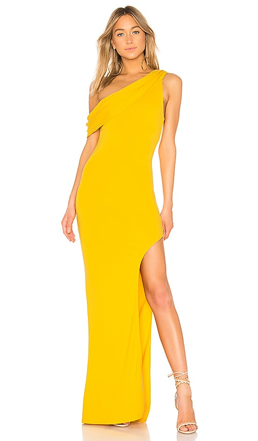 Lovers + Friends Marigold Gown in Yellow