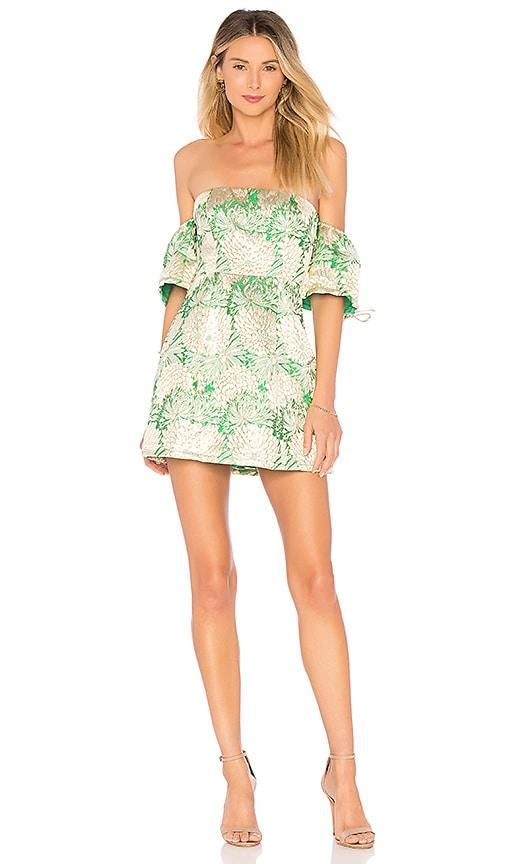 Lovers + Friends Allie Mini Dress in Green