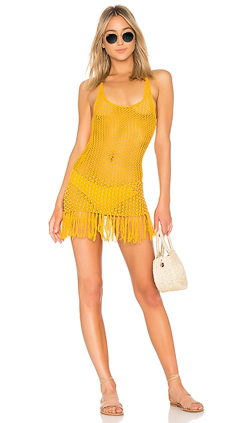 x REVOLVE Analu Mini Dress in Mustard. - size M (also in L,S,XS,XXS) ále by Alessandra