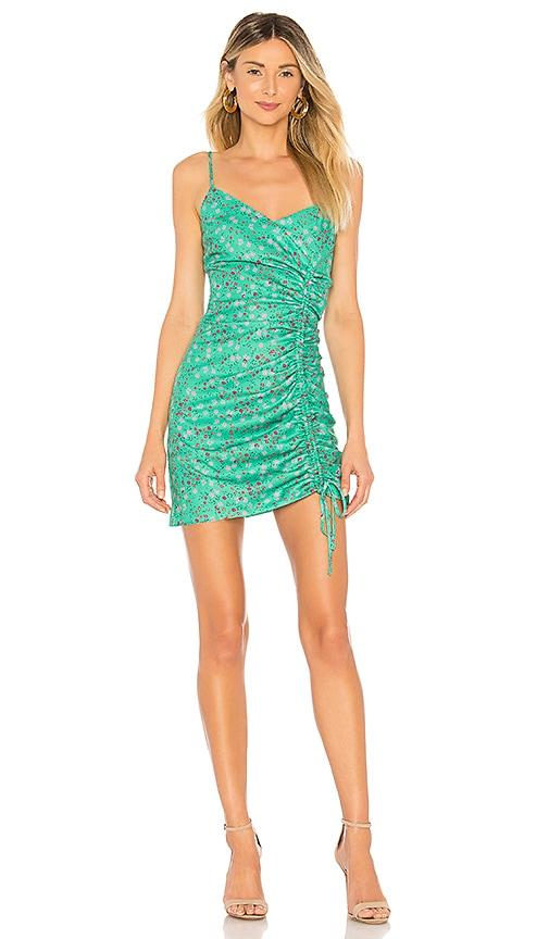 Lovers + Friends Alice Mini Dress in Green