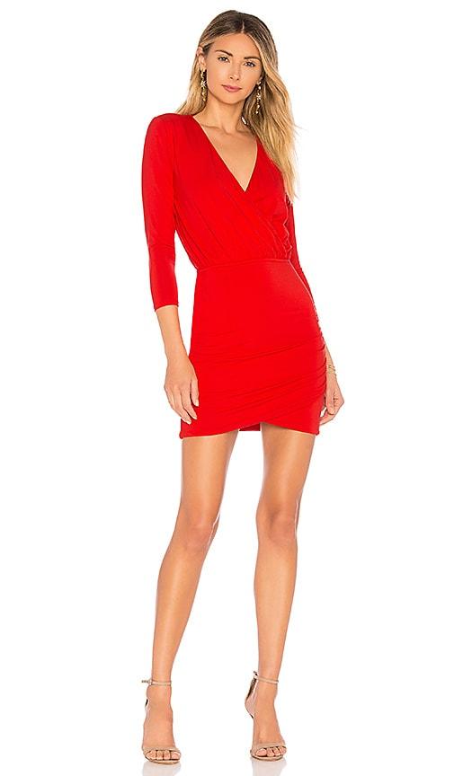 Lovers + Friends Love Happy Dress in Red
