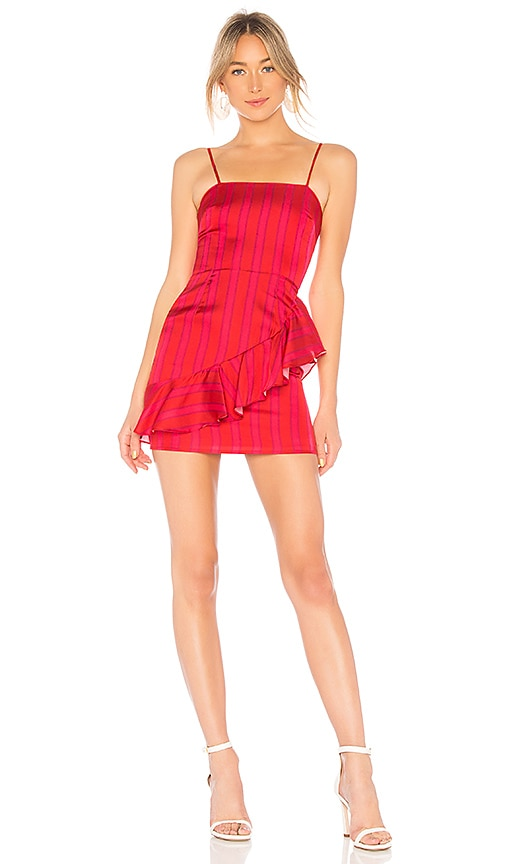 Lovers + Friends Claudia Mini Dress in Red