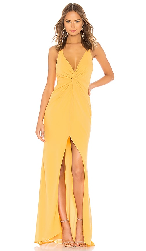 Lovers + Friends Xael Gown in Golden Rod | REVOLVE